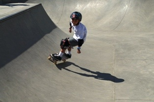 Skateboarder in bowl