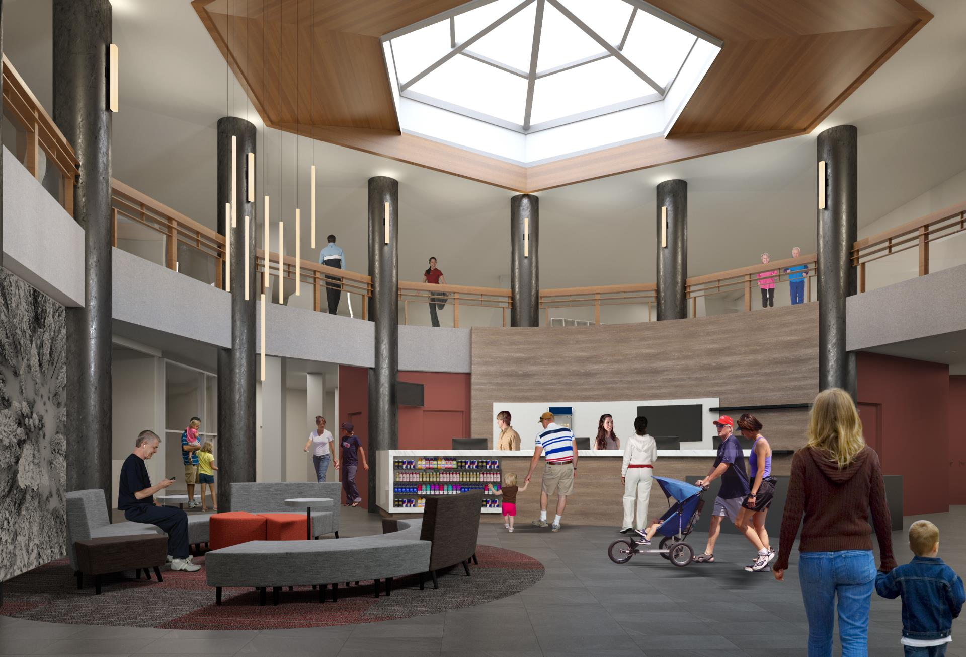 Breckenridge Recreation Center Lobby