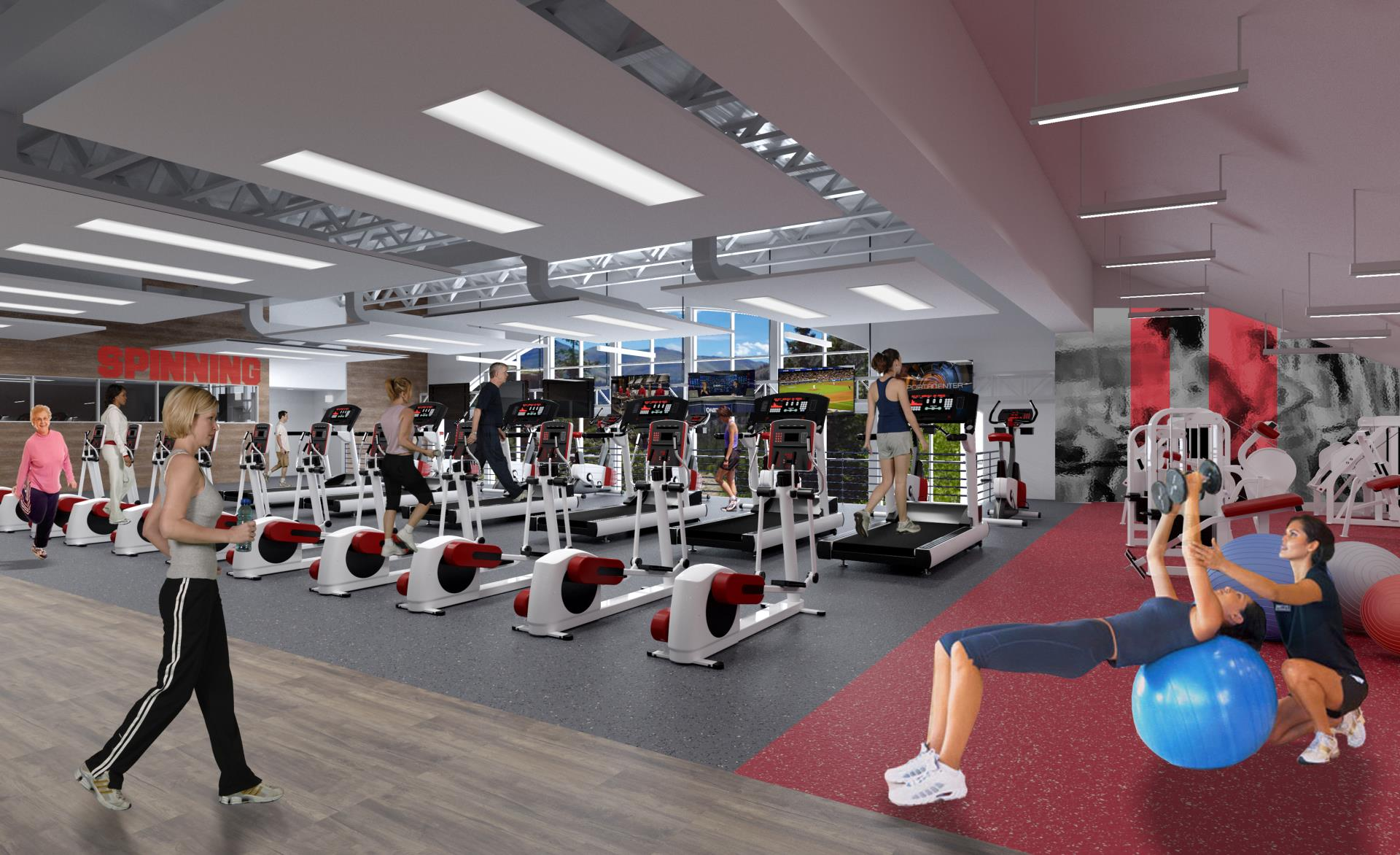 Breckenridge Recreation Center Cardio Area