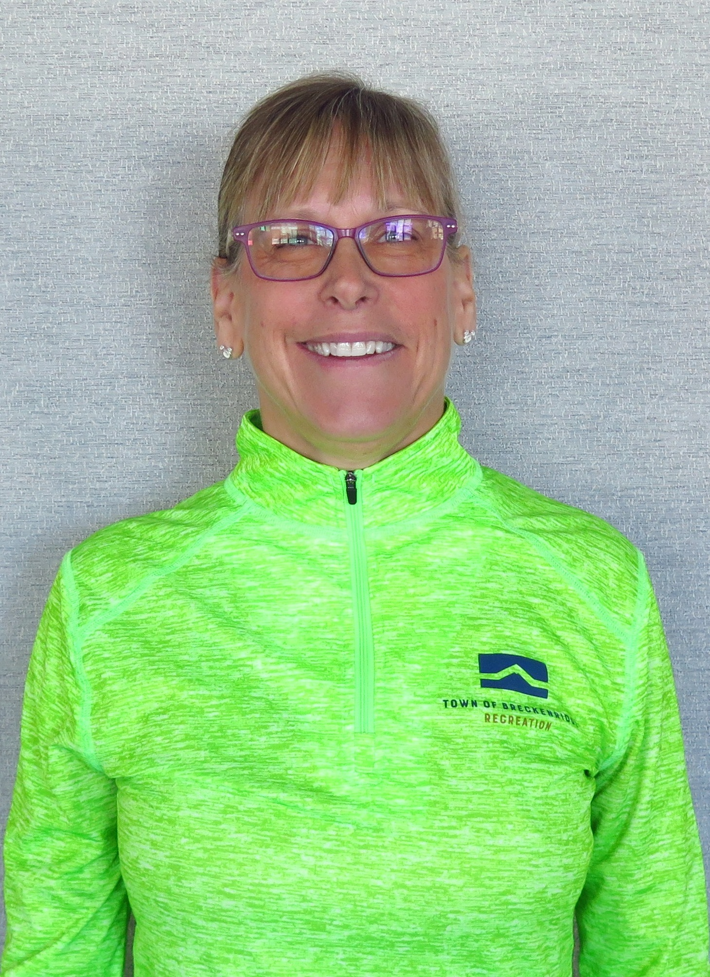 Head shot of Cathy Bohdan Breckenridge personal training in white and black athletic top