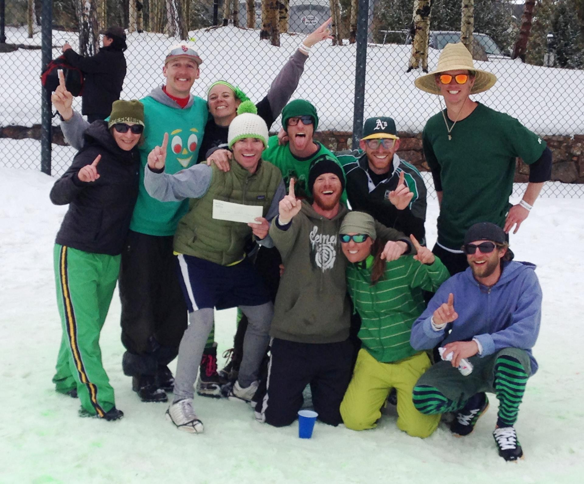 Group photo of previous SNOWPitch winners