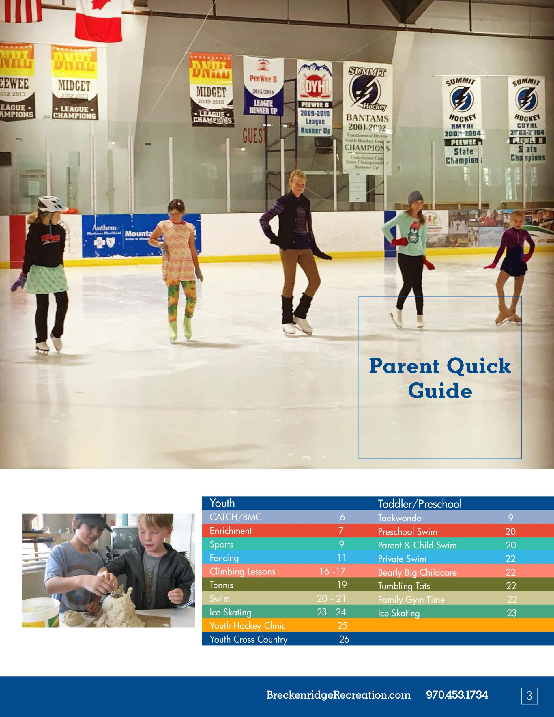2016 Fall Programs Parent Quick Guide