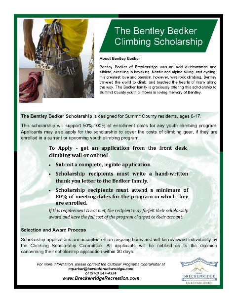 Bently Bedker Scholarship Flyer